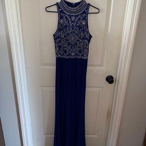 Long formal/prom dress. Royal/navy blue